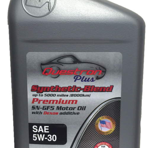 Questron Synthetic Motor Oil 5W-30, Synthetic motor oil MA, synthetic motor oil Massachusetts, car products Massachusetts