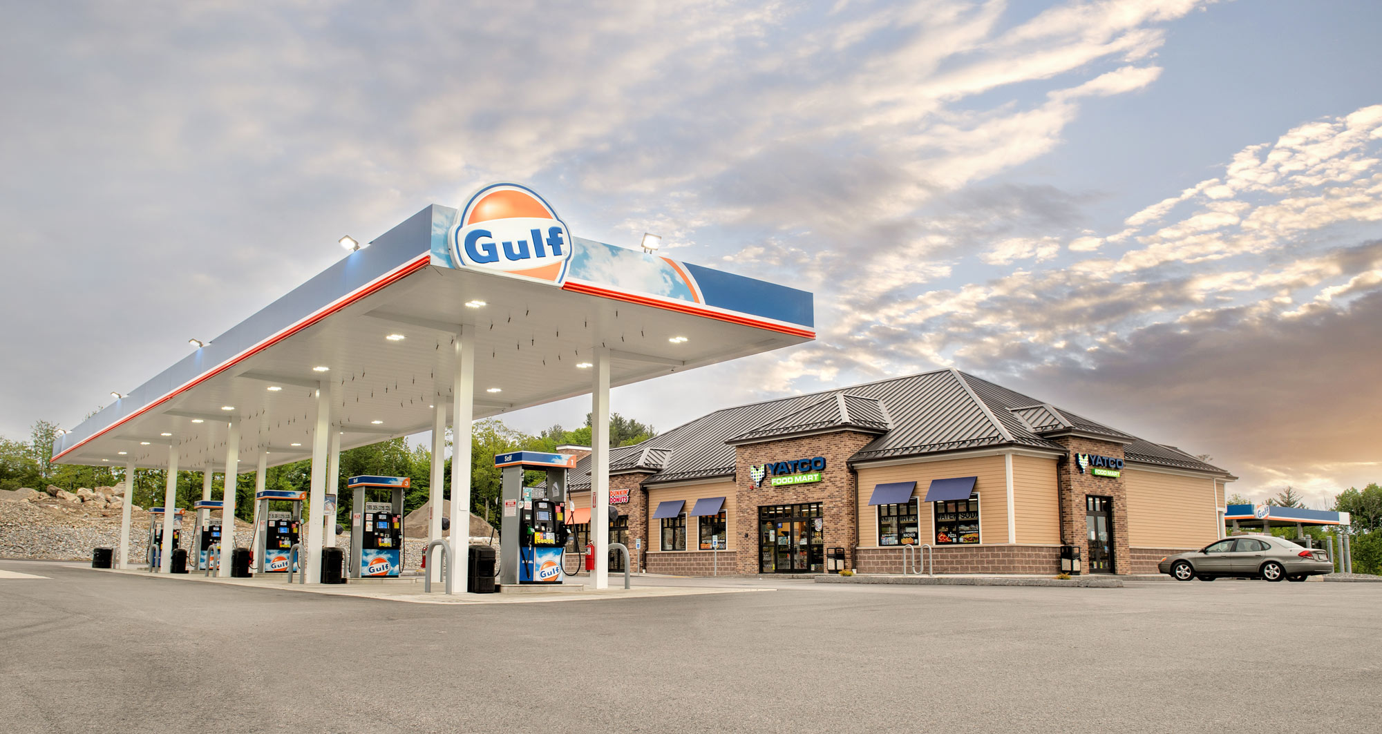 Gas Station, Gulf gas station, Fuel Delivery MA, fuel delivery massachusetts, Yatco Energy, Yatco Energy Massachusetts